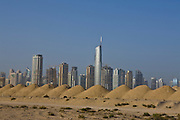 Dubai . .open space under development  near Sheikh Zayed Road (in background)  entering Dubai from  Abu Dhabi.