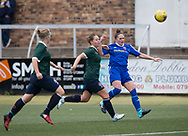 Danni McGinley lobs home Farmington's opening goal - Forfar Farmington v Edinburgh University Hutchison Vale in SWPL2 at Station Park Forfar - picture by David Young<br /> <br />  - &copy; David Young - www.davidyoungphoto.co.uk - email: davidyoungphoto@gmail.com