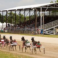 Harness racing  at Macon County Fair,Decatur,Illinois  on 06 02 2012. Photo : George Strohl