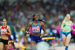 London, 2017 August 07. Shamier Little, USA, in the Women's 400m semi-final on day four of the IAAF London 2017 world Championships at the London Stadium. © Paul Davey.