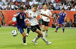 09.07.2011, Arena im Allerpark Wolfsburg , Wolfsburg ,  GER, FIFA Women Worldcup 2011, Viertelfinale ,   Germany (GER) vs Japan (JPN.Kerstin Garefrekes (GER) gegen Aya Sameshima (JPN)   //  during the FIFA Women Worldcup 2011, Quarterfinal, Germany vs Japan  on 2011/07/09, Arena im Allerpark , Wolfsburg, Germany.  .EXPA Pictures © 2011, PhotoCredit: EXPA/ nph/  Hessland       ****** out of GER / CRO  / BEL ******