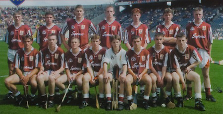 All Ireland Senior Hurling Championship - Final, .14.09.1997, 09.14.1997, 14th September 1997, .14091997AISHCF,.Senior Clare v Tipperary .Tipperary 2-16, Wexford 0-15,.Minor Clare v Galway, .PUMA, ..Galway Minor Team, Back Row, left to right, Eamon Hyland, Stephen Morgan, David Huban, Gavin Keary, Jamie Cannon, Niall Lawlor, Keith Hayes, .Front row left to right, David Tierney, Diarmuid Cloonan, Keith Daniels, Eoin McDonagh, Ciaran Callanan, Anton Walsh, Eamonn Donoghue, Brian Cunningham,