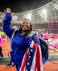 09-08-2017 IAAF World Championships Athletics day 6, London<br /> Michelle Carter USA Bronze medal short put