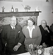 elderly couple celebration 1950s Holland