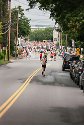 LL Bean Fourth of July 10K road race: Chris Harmon warm up