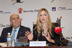 28.09.2010, Madrid, ESP, Save the Children 2010, press Conference, im Bild American actress Mira Sorvino and Nobel award winner Shirin Ebadi attend press Conference to announce winners of 'Save the Children 2010 Awards'. EXPA Pictures © 2010, PhotoCredit: EXPA/ Alterphotos/ Cesar Cebolla +++++ ATTENTION - OUT OF SPAIN / ESP +++++