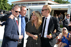 Left to right, JOHN SIMM, PHILIP GLENISTER, BILLIE PIPER and LAURENCE FOX at the Audi International Polo at Guards Polo Windsor Great Park, Egham, Surrey on 28th July 2013.