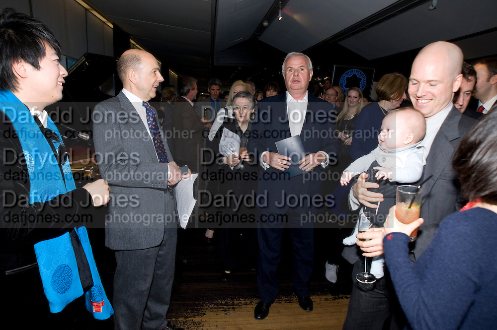 LANG LANG; ANTHONY D'OFFAY; TIMOTHY D'OFFAY;  BABY; KOKORO D'OFFAY; ASAKO  D'OFFAY. The Presentation of the Montblanc de la Culture Arts Patronage Award to Anthony D'Offay. Tate Modern. 16 April 2009<br /> LANG LANG; ANTHONY D'OFFAY; TIMOTHY D'OFFAY;  BABY; KOKORO D'OFFAY; ASAKO  D'OFFAY. The Presentation of the Montblanc de la Culture Arts Patronage Award to Anthony D'Offay. Tate Modern. 16 April 2009 *** Local Caption *** -DO NOT ARCHIVE-© Copyright Photograph by Dafydd Jones. 248 Clapham Rd. London SW9 0PZ. Tel 0207 820 0771. www.dafjones.com.