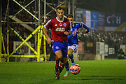 Chris Barker during the The FA Cup match between Aldershot Town and Portsmouth at the EBB Stadium, Aldershot, England on 19 November 2014.