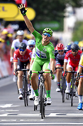 July 12, 2017 - Pau, France - Pau, France - July 12 : KITTEL Marcel (GER) Rider of Quick-Step Floors Cycling team during stage 11 of the 104th edition of the 2017 Tour de France cycling race, a stage of 203.5 kms between Eymet and Pau on July 12, 2017 in Pau, France, 12/07/2017 (Credit Image: © Panoramic via ZUMA Press)