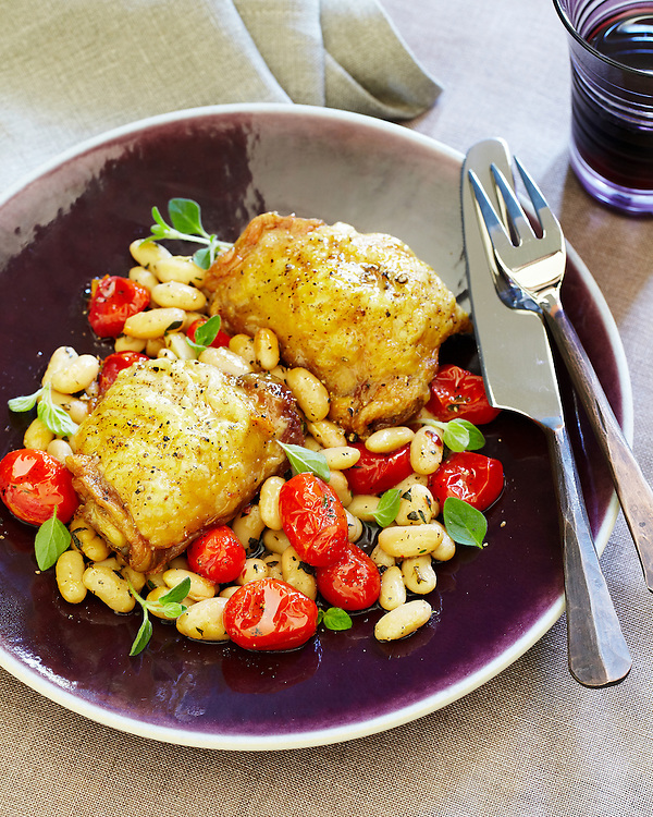 Baked Chicken and Canelini Beans