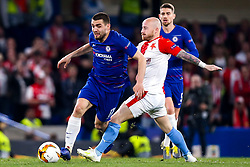 Mateo Kovacic of Chelsea goes past Miroslav Stoch of Slavia Prague - Mandatory by-line: Robbie Stephenson/JMP - 18/04/2019 - FOOTBALL - Stamford Bridge - London, England - Chelsea v Slavia Prague - UEFA Europa League Quarter Final 2nd Leg