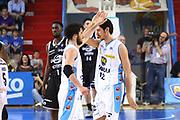 DESCRIZIONE : Cremona Lega A 2014-2015 Vanoli Cremona Granarolo Virtus Bologna<br /> GIOCATORE : Luca Vitali Luca Campani<br /> SQUADRA : Vanoli Cremona<br /> EVENTO : Campionato Lega A 2014-2015<br /> GARA : Vanoli Cremona Granarolo Virtus Bologna<br /> DATA : 12/04/2015<br /> CATEGORIA : Ritratto Esultanza<br /> SPORT : Pallacanestro<br /> AUTORE : Agenzia Ciamillo-Castoria/F.Zovadelli<br /> GALLERIA : Lega Basket A 2014-2015<br /> FOTONOTIZIA : Cremona Campionato Italiano Lega A 2014-15 Vanoli Cremona  Granarolo Virtus Bologna<br /> PREDEFINITA : <br /> F Zovadelli/Ciamillo
