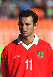 MINSK, BELARUS - Saturday, September 4, 1999: Wales' Ryan Giggs before the UEFA Euro 2000 Qualifying Group One match against Belarus at the Dinamo Stadium. (Mandatory credit: David Rawcliffe/Propaganda)