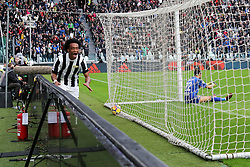 November 5, 2017 - Turin, Italy - Juan Cuadrado (Juventus FC) celebrates after scoring the goal of the Juventus victory during the Serie A football match between Juventus FC and Benevento Calcio on 05 November 2017 at Allianz Stadium in Turin, Italy. Juventus win 2-1 over Benevento. (Credit Image: © Massimiliano Ferraro/NurPhoto via ZUMA Press)
