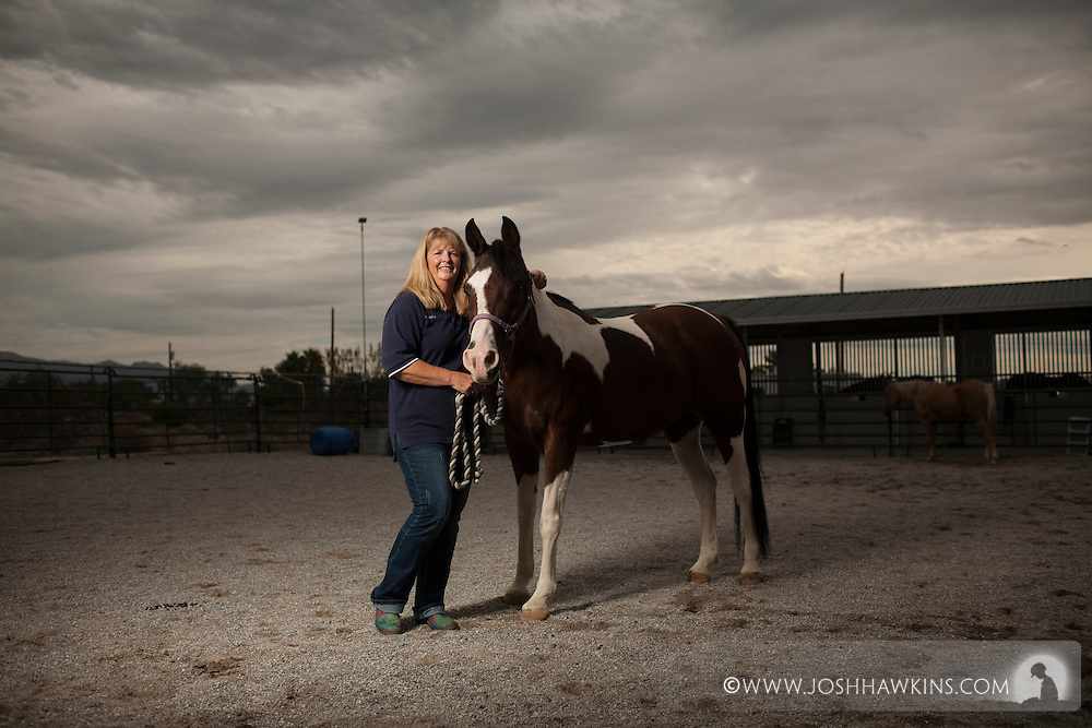 """Laurie Willmott is founder of """"Spirit Therapies"""" offering therapeutic horseback riding to individuals with special needs and military member with physical or mental challenges."""