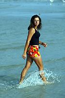 NASDAQ 100 TENNIS CHAMPIONSHIPS KEY BISCAYNE MIAMI 25/03/03<br /> EMMANUELLE GAGLIARDI (SUI) RELAXES ON THE BEACH AT KEY BISCAYNE<br /> PHOTO ROGER PARKER FOTOSPORTS INTERNATIONAL