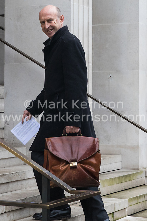 London, UK. 16 November, 2019. John Healey, Shadow Housing Secretary, arrives at Labour's Clause V meeting. The Clause V meeting, chaired by the party leader and attended by members of the National Executive Committee (NEC), relevant Shadow Cabinet members and members of the National Policy Forum, will finalise the party's general election manifesto. The meeting is named after Clause V of the Labour Party rulebook. Credit: Mark Kerrison/Alamy Live News
