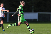 Forest Green Rovers Sian Towler(7) on the ball during the South West Womens Premier League match between Forest Greeen Rovers Ladies and Marine Academy Plymouth LFC at Slimbridge FC, United Kingdom on 5 November 2017. Photo by Shane Healey.