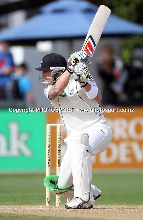 New Zealand batsman Brendon McCullum.<br />Test Match Cricket. 1st test. Day 3.<br />New Zealand Black Caps versus Australia. Basin Reserve, Wellington, New Zealand. Sunday 21 March 2010. Photo: Andrew Cornaga/PHOTOSPORT