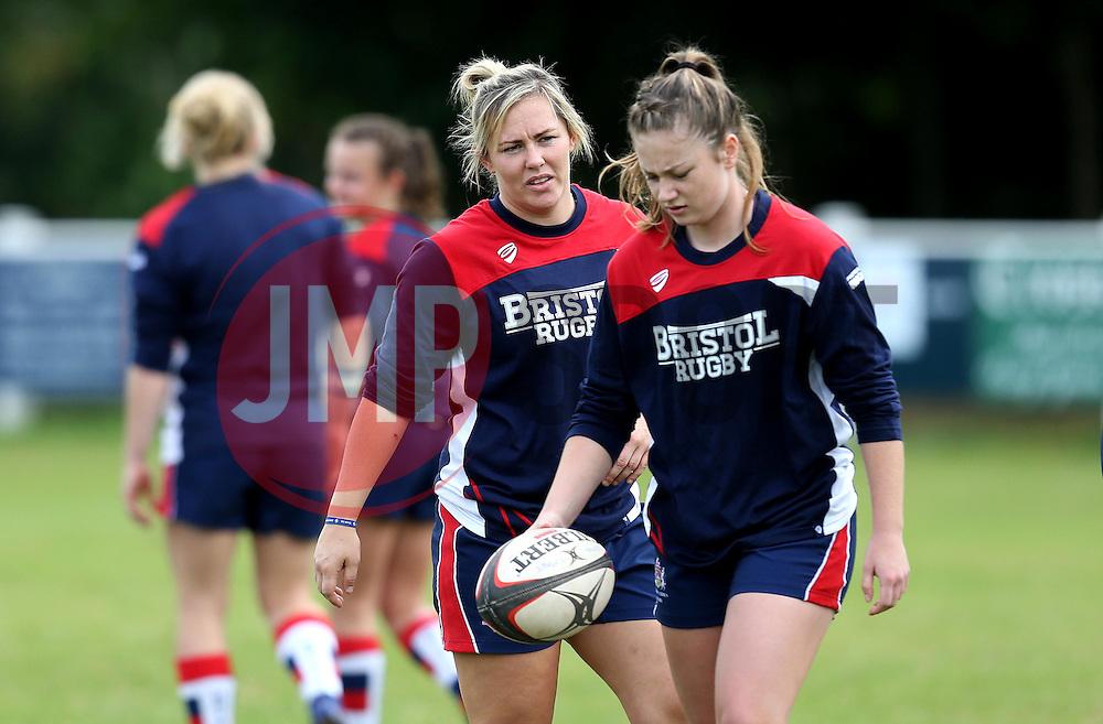 Marlie Packer and Chantelle Miell of Bristol Ladies - Mandatory by-line: Robbie Stephenson/JMP - 18/09/2016 - RUGBY - Cleve RFC - Bristol, England - Bristol Ladies Rugby v Aylesford Bulls Ladies - RFU Women's Premiership