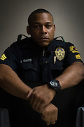 DALLAS, TX - AUGUST 11: Sgt. Ivan Gunter poses for a portrait at the Southwest Patrol Division in Dallas, Texas on August 11, 2016. (Photo by Cooper Neill for The Washington Post)