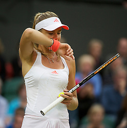 LONDON, ENGLAND - Friday, June 24, 2011: Daniela Hantuchova (SVK) in action during the Ladies' Singles 3rd Round match on day five of the Wimbledon Lawn Tennis Championships at the All England Lawn Tennis and Croquet Club. (Pic by David Rawcliffe/Propaganda)