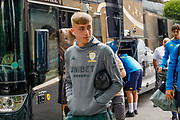 Leeds United forward Jack Clarke arrives during the Pre-Season Friendly match between Tadcaster Albion and Leeds United at i2i Stadium, Tadcaster, United Kingdom on 17 July 2019.