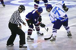 Albin Felc vs Poconin at friendly ice-hockey game Slovenia Oldies vs Gazprom Export (Russia), on October 24, 2008 in Hala Tivoli, Ljubljana, Slovenia. Gazprom Export won 6:3.(Photo by Vid Ponikvar / Sportal Images)