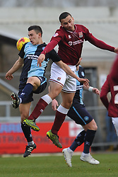 NORTHAMPTONS ROD McDONALD BEATS WYCOMBES LUKE O'NEIN, Northampton Town v Wycombe Wanderers, Sixfields Stadium, Sky Bet League 2, Saturday 20th Febuary 2016