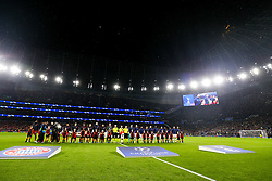 General View as Bayern Munich and Tottenham Hotspur line up - Rogan/JMP - 01/10/2019 - FOOTBALL - Tottenham Hotspur Stadium - London, England - Tottenham Hotspur v Bayern Munich - UEFA Champions League Group B.