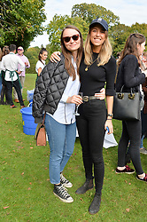 Rachael Roden and Lucy Swinton at Young Guns raising money for the fight against breast cancer trough Cancer Research UK held at EJ Churchill Shooting School followed by lunch at West Wycombe Park, England. 23 September 2017.