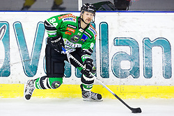 08.10.2013, Hala Tivoli, Ljubljana, SLO, EBEL, HDD Olimpija Ljubljana vs UPC Vienna Capitals, 18.Runde, im Bild Andrej Hebar (HDD Olimpija, #84) // during the Erste Bank Icehockey League 18th Game Day match between HDD Telemach Olimpija Ljubljana and UPC Vienna Capitals at the Hala Tivoli, Ljubljana, Slovenia on 2013/10/08. EXPA Pictures © 2013, PhotoCredit: EXPA/ Sportida/ Matic Klansek Velej<br /> <br /> ***** ATTENTION - OUT OF SLO *****