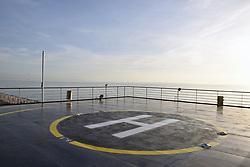 Helipad on Britanny Ferries boat, Feb 2019