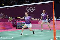 Ha Je and Kim MJ, Korea, Womens Doubles, First Round Olympic Badminton London Wembley 2012