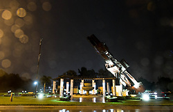 September 10, 2017 - Wellington, Florida, U.S. - The eternal flame is out at the 9/11 Patriot Memorial during Hurricane Irma. (Credit Image: © Allen Eyestone/The Palm Beach Post via ZUMA Wire)