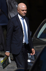 © Licensed to London News Pictures. 17/06/2019. London, UK.  Home Secretary SAJID JAVID is seen at the Houses of Parliament in London. Boris Johnson has cemented his position as favourite to become the next Prime Minster after winning a landslide in the first round of the conservative party's leadership race. Photo credit: Ben Cawthra/LNP