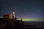 Eagle Harbor Lighthouse, Perseid Meteor shower, Aurora, northern lights,Keweenaw,Upper Peninsula,night sky,photography