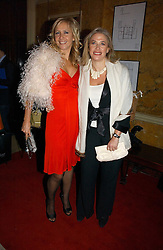 Left to right, sisters TV presenter TANIA BRYER and MRS LESLEY KING-LEWIS at a party hosted by Westfield and the British Fashion Council to celebrate Fashion Forward held at Home House, 20 Portman Square, London W1 on 30th January 2007.<br /><br />NON EXCLUSIVE - WORLD RIGHTS