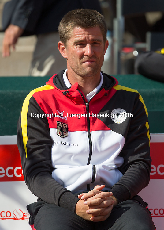MICHAEL KOHLMANN (GER)-Davis Cup Captain<br /> <br /> Tennis - Davis Cup GER-POL 2016 - ITF Davis Cup -  Steffi Graf Stadion - Berlin - Berlin - Germany - 18 September 2016. <br /> &copy; Juergen Hasenkopf-Molter