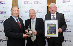Repro Free<br /> Pictured at the North West and West Region &ndash;  Supervalu Tidy Towns Awards ceremony were Abbey Tidy Towns Co Galway, Bronze Medal Winners accepting their prize from Minister of State for Regional Development Michael Ring TD.<br /> Pic Conor McKeown
