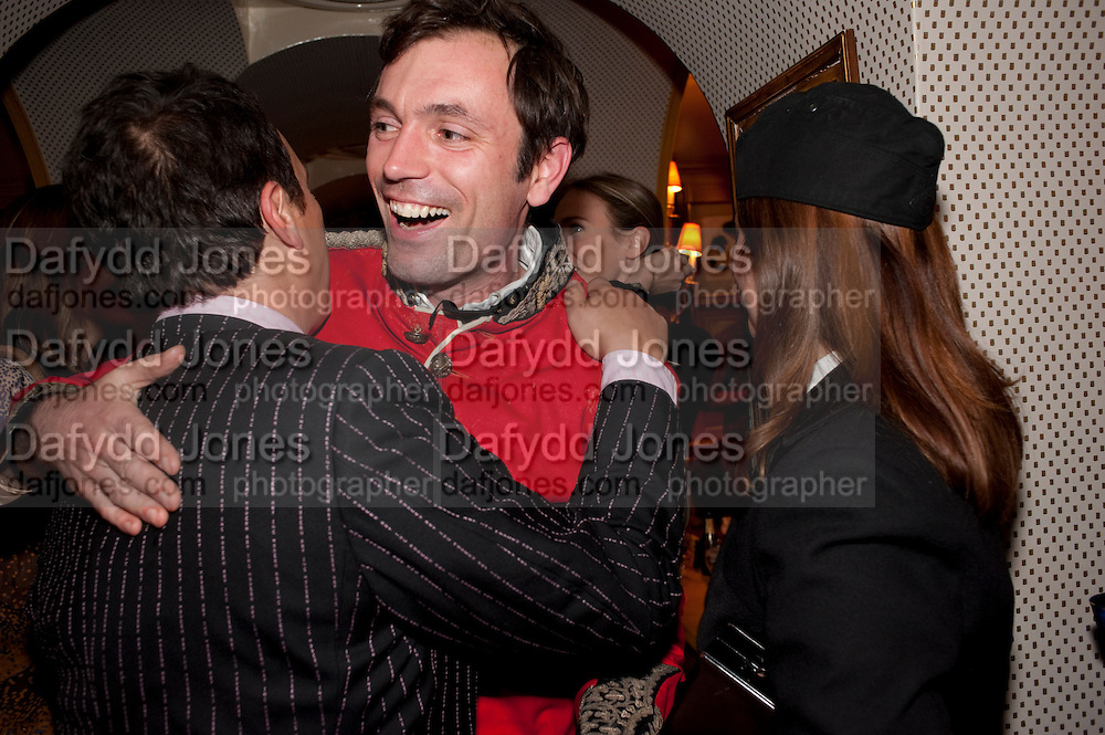 DETMAR BLOW; TOM SYKES, PARTY FOR BLOW BY BLOW BY DETMAR BLOW AND TOM SYKES. ANNABEL'S. BERKELEY SQ. LONDON. 21 SEPTEMBER 2010. -DO NOT ARCHIVE-© Copyright Photograph by Dafydd Jones. 248 Clapham Rd. London SW9 0PZ. Tel 0207 820 0771. www.dafjones.com.