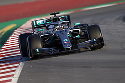 February 18, 2019 - Barcelona, Barcelona, Spain - Lewis Hamilton of Great Britain driving the (44) Mercedes-AMG F1 during day one of F1 Winter Testing at Circuit de Catalunya on February 18, 2019 in Montmelo, Spain. (Credit Image: © Jose Breton/NurPhoto via ZUMA Press)