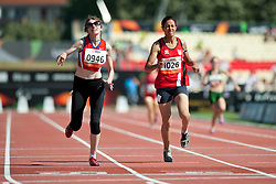 GOUWS Liezel, TRUSHNIKOVA Evgeniya, RSA, RUS, 400m, T37, 2013 IPC Athletics World Championships, Lyon, France
