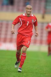 WREXHAM, WALES - Saturday, October 10, 2009: Wales' Ashley Richards during the UEFA Under-21 Championship Qualifying Round Group 3 match against Bosnia-Herzegovina at the Racecourse Ground. (Pic by Chris Brunskill/Propaganda)