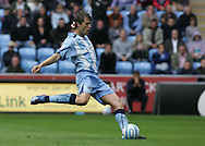 Coventry - Saturday August 9th, 2008: Elliot Ward of Coventry City scores the penealty which gives his teams a one-nil lead against Norwich City during the Coca Cola Championship match at The Ricoh Arena, Coventry. (Pic by Michael Sedgwick/Focus Images)