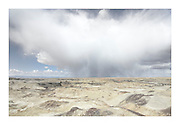 Storm clouds over Bisti Badlands, Bisti/De-Na-Zin Wilderness, New Mexico