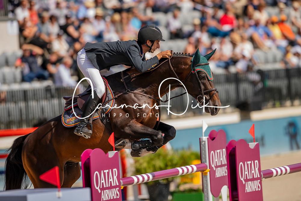 Nunez Riva Santiago, ESP, Valentino de Hus Z<br /> European Championship Jumping<br /> Rotterdam 2019<br /> © Hippo Foto - Dirk Caremans<br /> Nunez Riva Santiago, ESP, Valentino de Hus Z