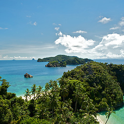View over the beaches and islands of Misool are, West-Papua.