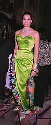Fashion designer ISABEL KRISTENSEN at a ball in London on April 8th 1997.LXM 49